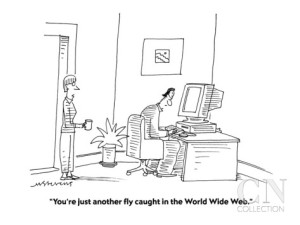 mick-stevens-you-re-just-another-fly-caught-in-the-world-wide-web-cartoon